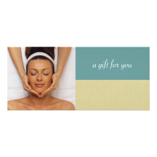 Day Spa or Massage Therapist Gift Certificates Rack Card Design