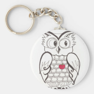 Day Thirty seven - hoo - Who? Basic Round Button Key Ring