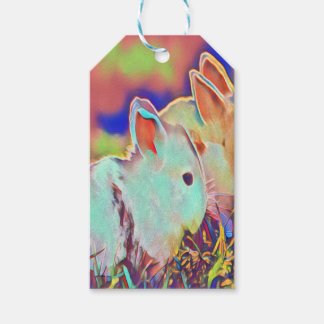 Day Time Dwarf Bunnies Gift Tags