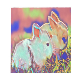 Day Time Dwarf Bunnies Notepad