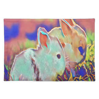 Day Time Dwarf Bunnies Placemat