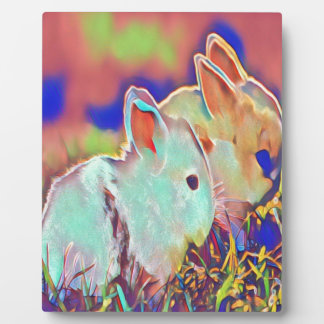 Day Time Dwarf Bunnies Plaque
