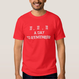 Day To Remember Remembrance Day T-Shirts