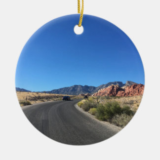 Day trip through Red Rock National Park Ceramic Ornament