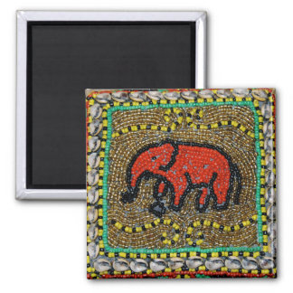 Dayak Elephant Native Tribal Art Magnet