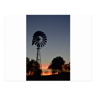 DAYBREAK & WINDMILL RURAL QUEENSLAND AUSTRALIA POSTCARD