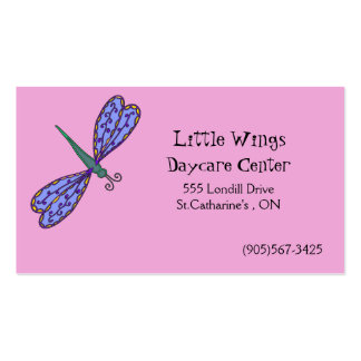 Daycare and Child Care Business Card - Dragonfly