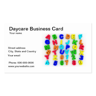 Daycare business card