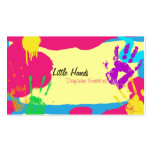 Daycare Business Card - Colourful Paint Hand Print