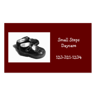 DAYCARE BUSINESS CARD: SHOES, PENCIL ART PACK OF STANDARD BUSINESS CARDS