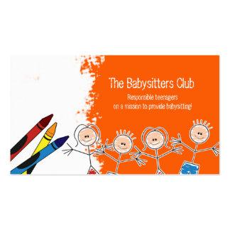 DAYCARE Child Care Babysitting Business Card