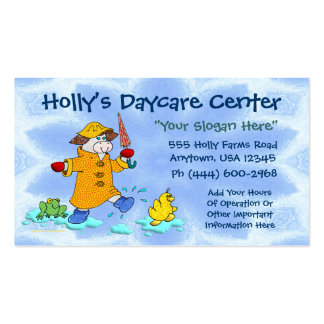 Daycare Or Child Care Double-Sided Standard Business Cards (Pack Of 100)