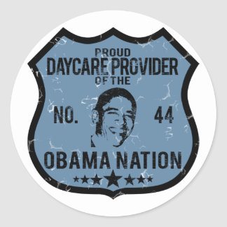 Daycare Provider Obama Nation Round Sticker