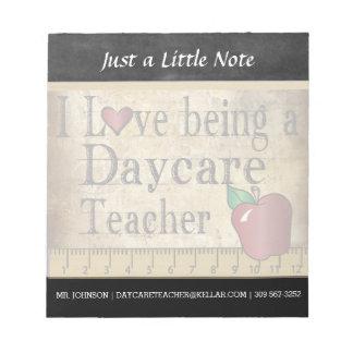 Daycare Teacher | Vintage Style Notepad