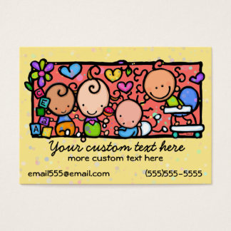 Daycare Toddlers Baby Nursery Babysitting template Business Card