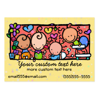 Daycare Toddlers Baby Nursery Babysitting template Pack Of Chubby Business Cards