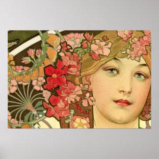 Daydream by Alphonse Mucha Poster