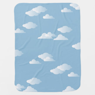 Daydream Clouds Sky Blue White Cloud Print Baby Blanket