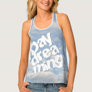 Daydreaming  - Blue Sky White Clouds - Photography Singlet