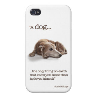 Daydreaming Dog Illustration iPhone 4 Case