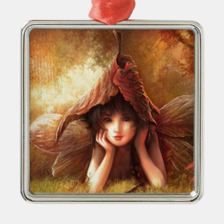 Daydreaming Fairy Metal Ornament
