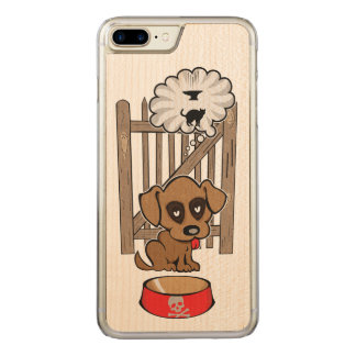 Daydreaming Puppy Carved iPhone 8 Plus/7 Plus Case