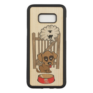 Daydreaming Puppy Carved Samsung Galaxy S8+ Case