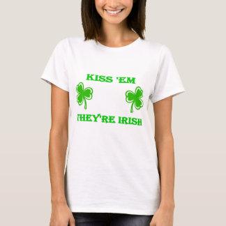 DayDrinker Kiss Em They're Irish T-Shirt