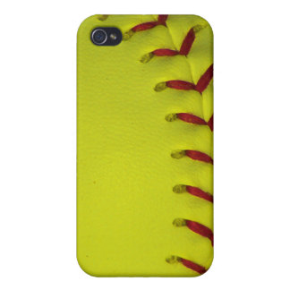 Dayglo Neon Yellow Softball iPhone 4 Cases