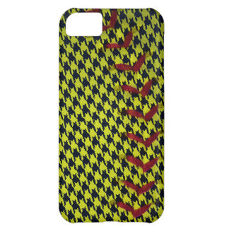 Dayglo Yellow and Houndstooth Softball iPhone 5C Case