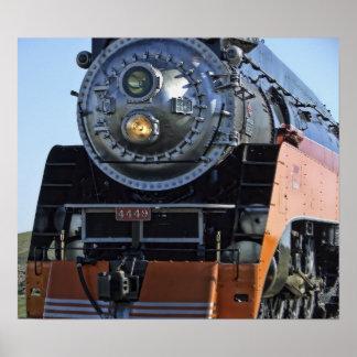 Daylight Express Steam Locomotive Poster