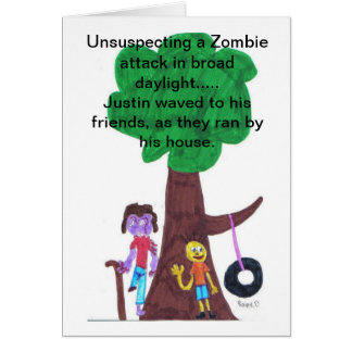 Daylight Zombie Attacks Card