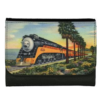 Daylighter Steam Locomotive Leather Wallet For Women