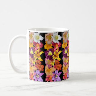 Daylilies Collage Design Coffee Mug