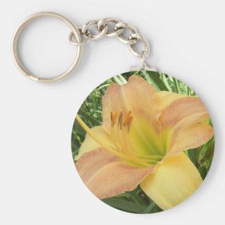 """DAYLILY """"Blond Baby"""" --- Key Ring"""