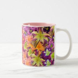 Daylily Blooms Two-Tone Coffee Mug