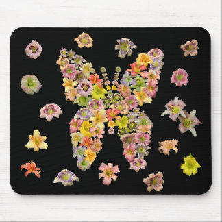 Daylily Butterfly Mouse Pad