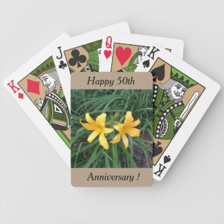 "DAYLILY ""Downey"" Gold Duo -- Bicycle Playing Cards"
