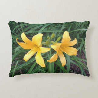 "DAYLILY ""Downey"" Gold Duo --- Decorative Cushion"