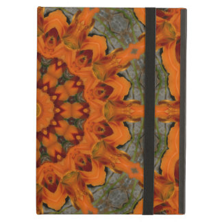 Daylily Orange Mandala iPad Air Cases