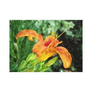 Daylily Watercolor Canvas Canvas Print