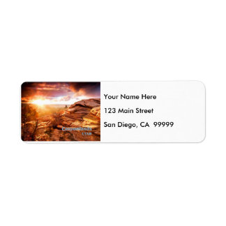 Days End Candlestick Tower Overlook Canyonlands NP Return Address Label