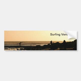 Days End Surfing Bumper Sticker