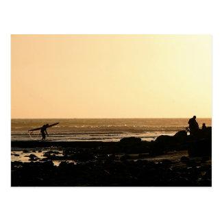 Days End Surfing Postcard