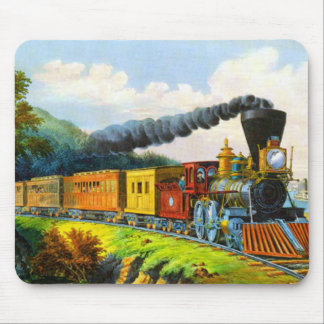 Days gone by Vintage Train Mousepad
