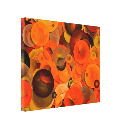 Days of Autumn Circle Abstract Stretched Canvas Prints