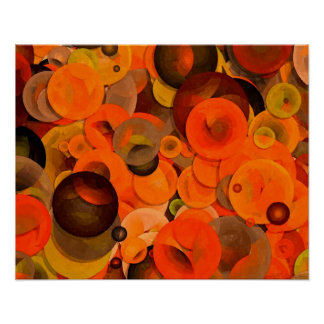 Days of Autumn Circle Abstract Poster