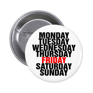 Days of the Week Pinback Button