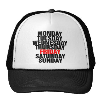 Days of the Week Hat