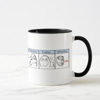 Days of the Week Memes Mug